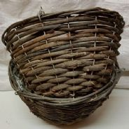 12 inch Wicker Hanging Basket x 2 - Bulk Discounts available